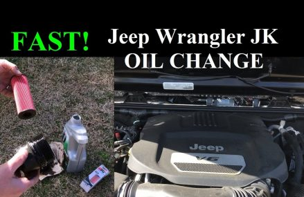 FAST – How to Change the Oil 2015 Jeep Wrangler JK JKU Near McHenry 60296 IL