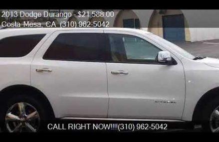 2013 Dodge Durango Citadel AWD 4dr SUV for sale in Costa Mes Seattle Washington 2018