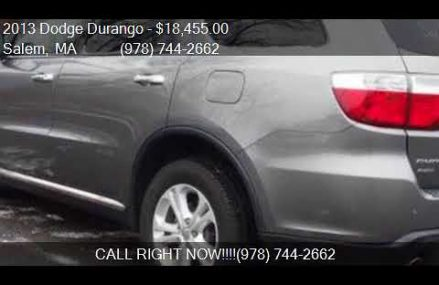 2013 Dodge Durango Crew AWD 4dr SUV for sale in Salem, MA 01 Topeka Kansas 2018