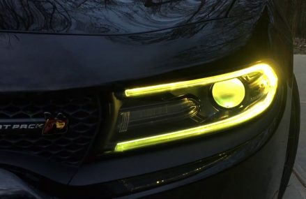 2018 Dodge Charger RGBWA DRL's & Demon Eyes Installed at 58001 Abercrombie ND
