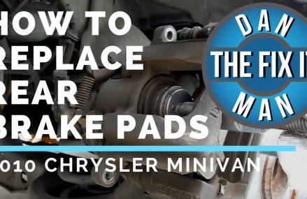 REPLACING REAR BRAKE PADS – 2010 Chrysler Town & Country – DIY Near Middlebury 6762 CT