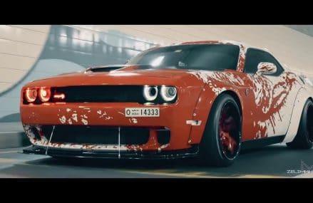 BLOOD SPLATTER Liberty Walk Wide Body Dodge Hellcat Challenger BY zelimkhanshm in 29002 Ballentine SC