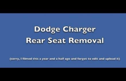 Dodge Charger rear seat removal Near 49221 Adrian MI