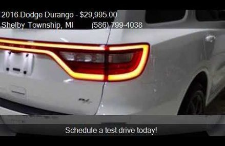 2016 Dodge Durango R/T AWD 4dr SUV for sale in Shelby Townsh Tucson Arizona 2018
