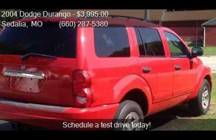 2004 Dodge Durango SLT 4WD 4dr SUV for sale in Sedalia, MO 6 Pomona California 2018