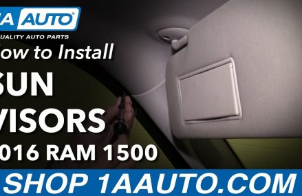 How to Install Replace Sun Visors 09-18 Ram 1500 Tacoma Washington 2018