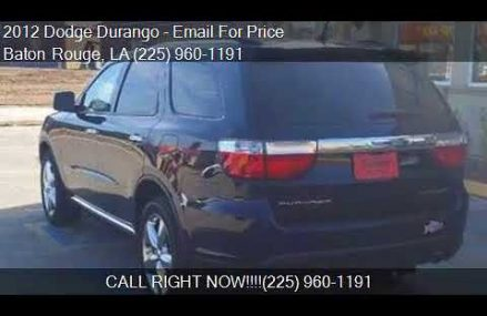 2012 Dodge Durango Citadel 4dr SUV for sale in Baton Rouge, Lubbock Texas 2018