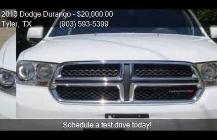 2013 Dodge Durango Crew 4dr SUV for sale in Tyler, TX 75702 West Valley Utah 2018