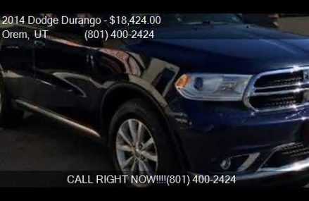 2014 Dodge Durango SXT AWD 4dr SUV for sale in Orem, UT 8405 Knoxville Tennessee 2018