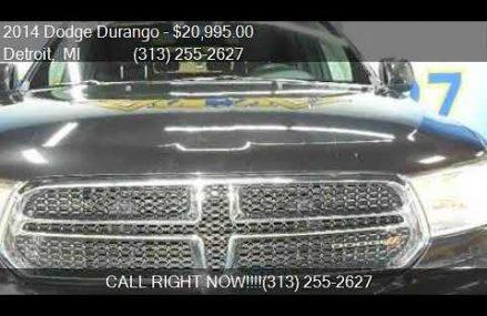 2014 Dodge Durango SXT AWD 4dr SUV for sale in Detroit, MI 4 Garland Texas 2018