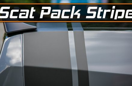 Scat Pack Stripe Removal & Install with 3M 1080 Vinyl and Knifeless Tape For 23821 Alberta VA