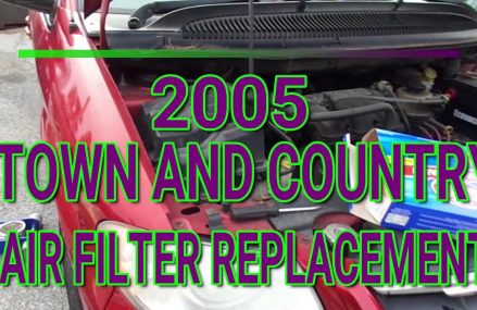 2005 Town And Country Chrysler Air Filter Replacement Near Luzerne 48636 MI