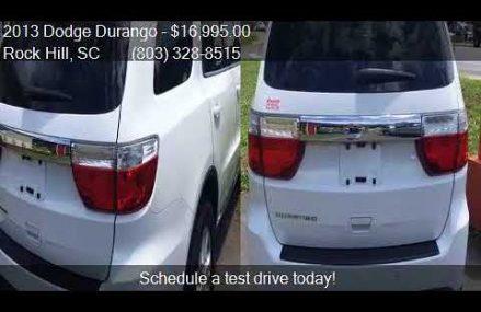 2013 Dodge Durango SXT 4dr SUV for sale in Rock Hill, SC 297 Glendale Arizona 2018