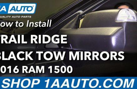 How to Install Black Trail Ridge Tow Mirrors 2016 Dodge Ram Area Near 57386 Yale SD