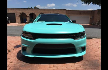 2017 Dodge Charger Scat Pack Wrapped in 3M Satin Key West Vinyl Now at 69120 Arnold NE