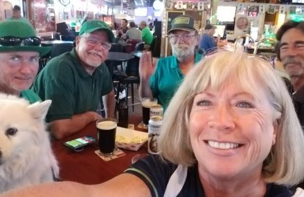 Update on Blue Van Dan's homemade ice chest,  St. Patrick's Day, 12th Man bar in Yuma – Full time va in Meadow Bluff 24958 WV