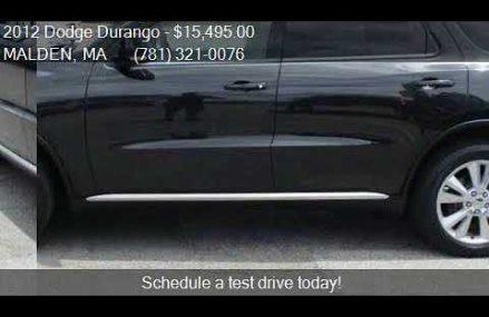 2012 Dodge Durango Crew AWD 4dr SUV for sale in MALDEN, MA 0 Lincoln Nebraska 2018