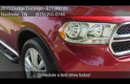 2013 Dodge Durango Crew 4dr SUV for sale in Nashville, TN 37 Baltimore Maryland 2018