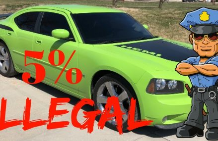 5% Window Tint On Dodge Charger Daytona Near 35007 Alabaster AL