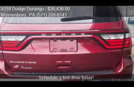 2018 Dodge Durango  for sale in Waynesboro, PA 17268 at BUCH Jersey  New Jersey 2018