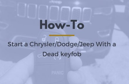 HOW-TO START A CHRYSLER/DODGE/JEEP WITH A DEAD KEYFOB at Los Angeles 90035 CA