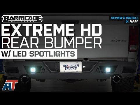 2009-2018 Ram 1500 Barricade Extreme HD Rear Bumper w/ LED Spot Lights Review & Install Dodge Ram Rear Bumper