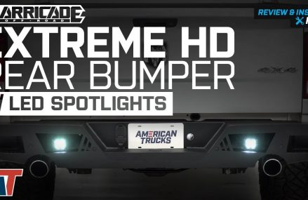 2009-2018 Ram 1500 Barricade Extreme HD Rear Bumper w/ LED Spot Lights Review & Install in 16370 West Hickory PA