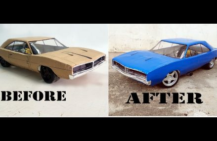 RC Dodge Charger 1969 || How to make old Dodge car with cardboard || DIY || Electric toy car at 85219 Apache Junction AZ