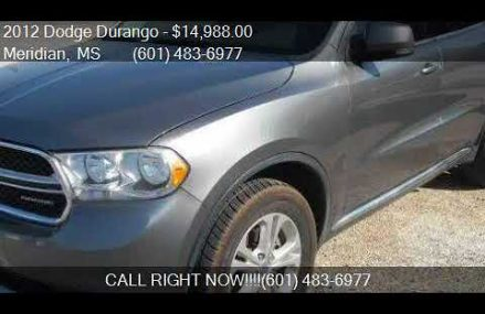 2012 Dodge Durango Crew Lux 4dr SUV for sale in Meridian, MS Spokane Washington 2018