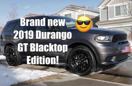 2019 Dodge Durango GT Blacktop Edition with the SRT front fascia! Walk around and thoughts on it Aurora Illinois 2018