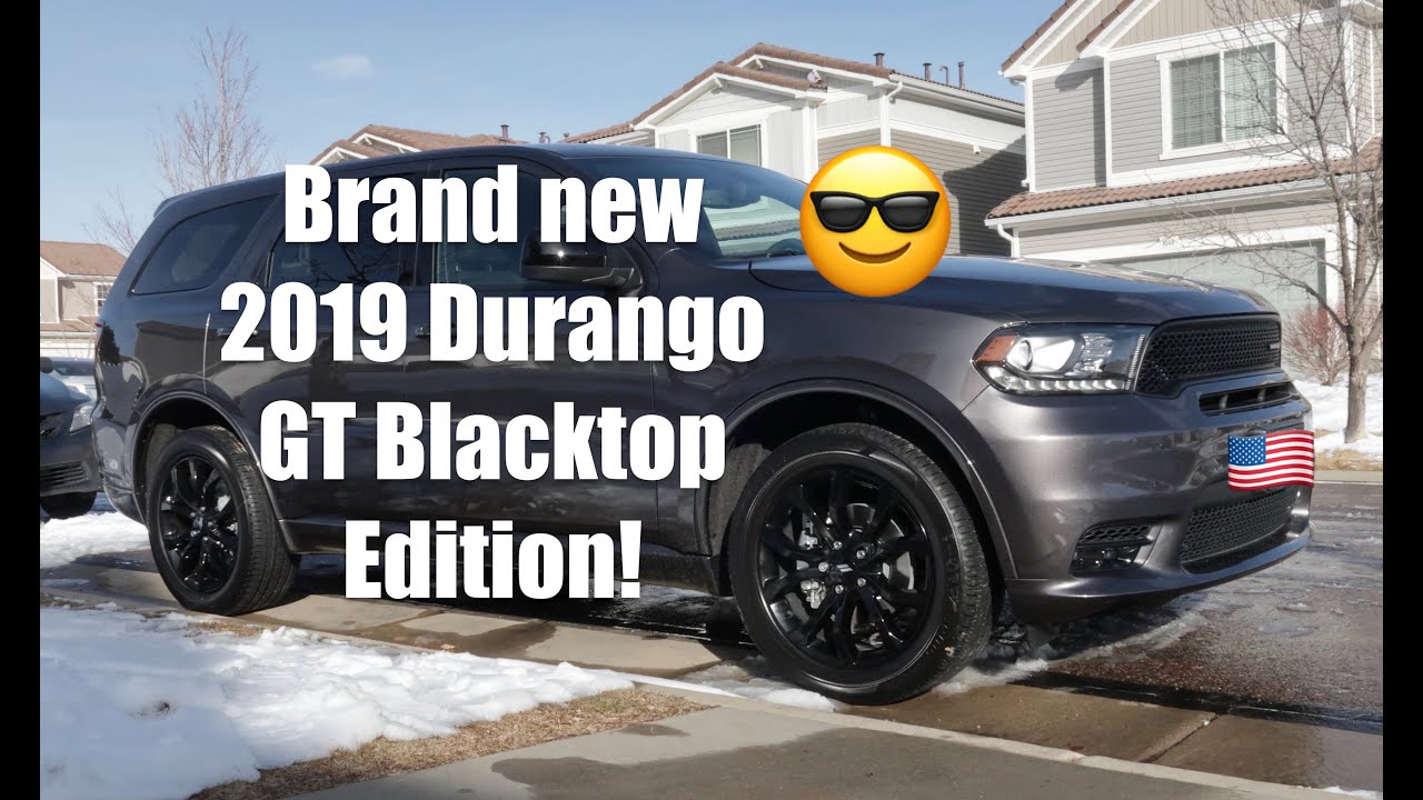 2019 Dodge Durango GT Blacktop Edition with the SRT front ...