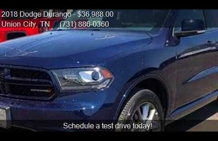 2018 Dodge Durango GT AWD 4dr SUV for sale in Union City, TN New Haven Connecticut 2018