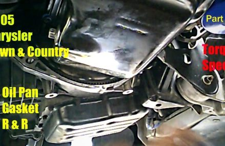 2005 Chrysler Town & Country 3.8l OIL PAN GASKET R&R W/Torque Specs (Part 2) For Mission 78573 TX