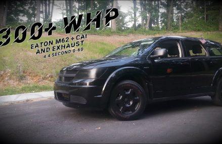 "Supercharged Dodge Journey ""SRT"" Custom Exhaust + Driving Clip / Pulls! Omaha Nebraska 2018"