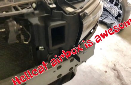 Hellcat airbox conversion kit install on a 2015 – 2018 charger Scatpack daytona or SRT. For 28804 Asheville NC