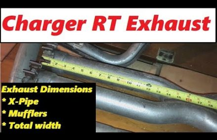 2011-2016 Dodge Charger RT Exhaust Stock Dimensions X-Pipe/Mufflers/Pipe etc. Now at 45808 Beaverdam OH