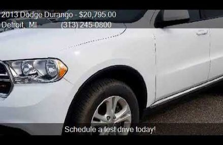 2013 Dodge Durango SXT AWD 4dr SUV for sale in Detroit, MI 4 Fort Wayne Indiana 2018