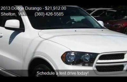 2013 Dodge Durango SXT 4dr SUV for sale in Shelton, WA 98584 Detroit Michigan 2018