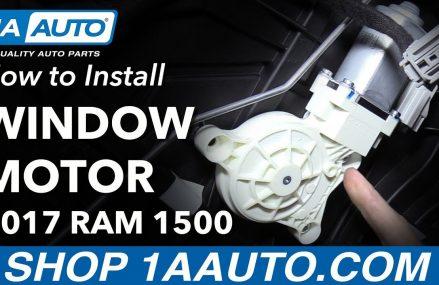 How to Replace Rear Window Regulator Motor 2017 Ram 1500 Hayward California 2018