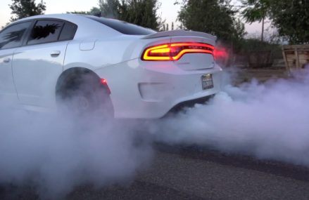 DODGE HELLCAT CHARGER EXHAUST — INSANE BURNOUT! at 19407 Audubon PA