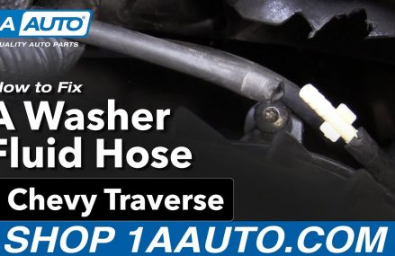 How to Fix a Windshield Washer Fluid Hose 09-17 Chevy Traverse Escondido California 2018
