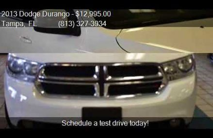 2013 Dodge Durango SXT AWD 4dr SUV for sale in Tampa, FL 336 Indianapolis Indiana 2018
