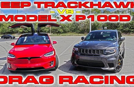 Tesla Model X P100D Ludicrous sets World Record vs Jeep Trackhawk Drag Racing 1/4 Mile El Paso Texas 2018