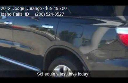 2012 Dodge Durango Crew AWD 4dr SUV for sale in Idaho Falls, Oklahoma  Oklahoma 2018