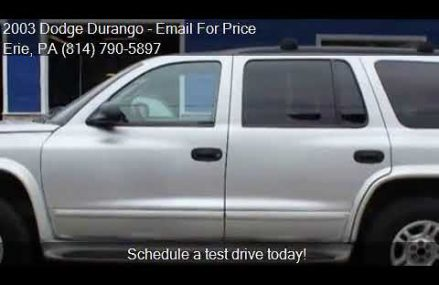 2003 Dodge Durango SLT Plus 4WD 4dr SUV for sale in Erie, PA Reno Nevada 2018