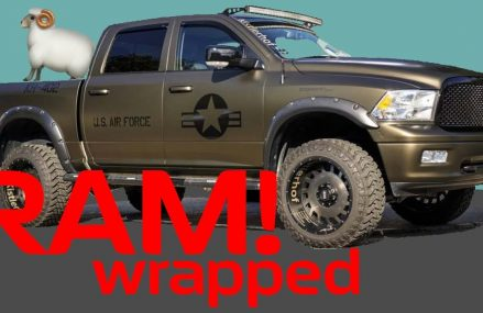 Dodge RAM V8 Wrapped Matte Army Style Teaser with Exhaust Motorsound From 24161 Sandy Level VA