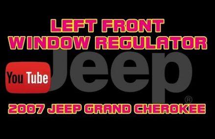 ⭐ 2007 Jeep Grand Cherokee Laredo – 3.7 – Left Front Window Regulator Assembly Local Mortons Gap 42440 KY