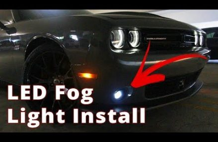 Challenger Fog Light Replacement Using Ultra Glow LED by OPT7 Near 2166 Auburndale MA