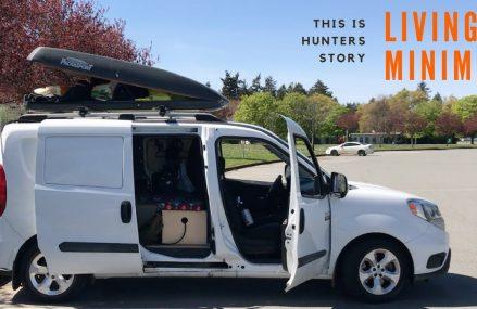 City Van Dweller Lives Minimal in a Stealth Van | Van Tour Near 94407 San Mateo CA
