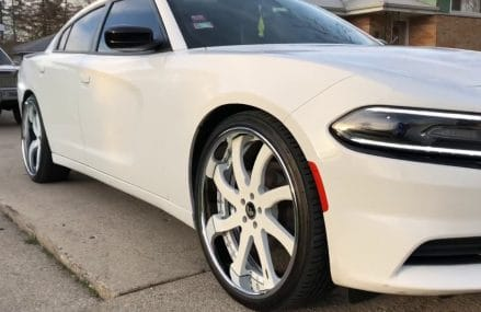 "2016 Dodge Charger on 24"" Forgiato Quattresimo Local Area 21206 Baltimore MD"